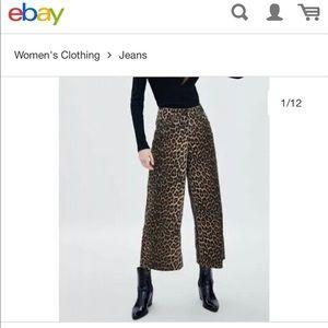 ZARA. Leopard wide leg 2. Cheetah 🐆trendy pants🔥
